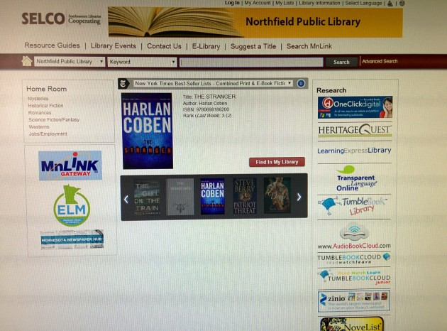 library catalog - it's online so I'm able to check it anywhere along with my library account