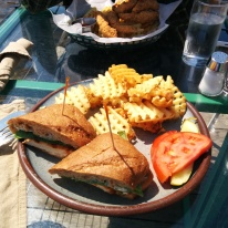 Lunch at the Angry Trout Cafe - so delicious and everything was so fresh and clean