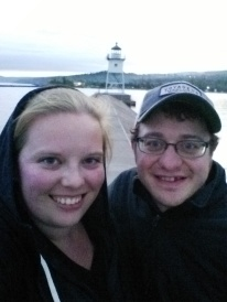 Walk out on the breakwater for our last night in Grand Marais