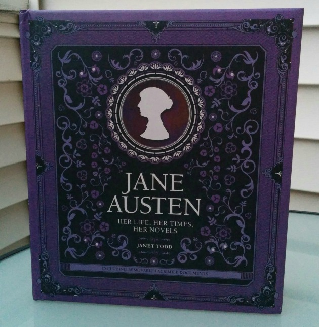Got this great and surprisingly large book about Jane Austen from Book Outlet.  There are some great reproductions of letters and things interspersed in envelopes throughout the book.